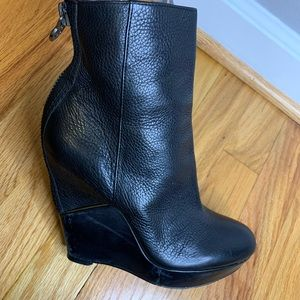 Sam Edelman Black Wedge Boots